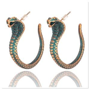 Antique Green Snake Earrings 🐍